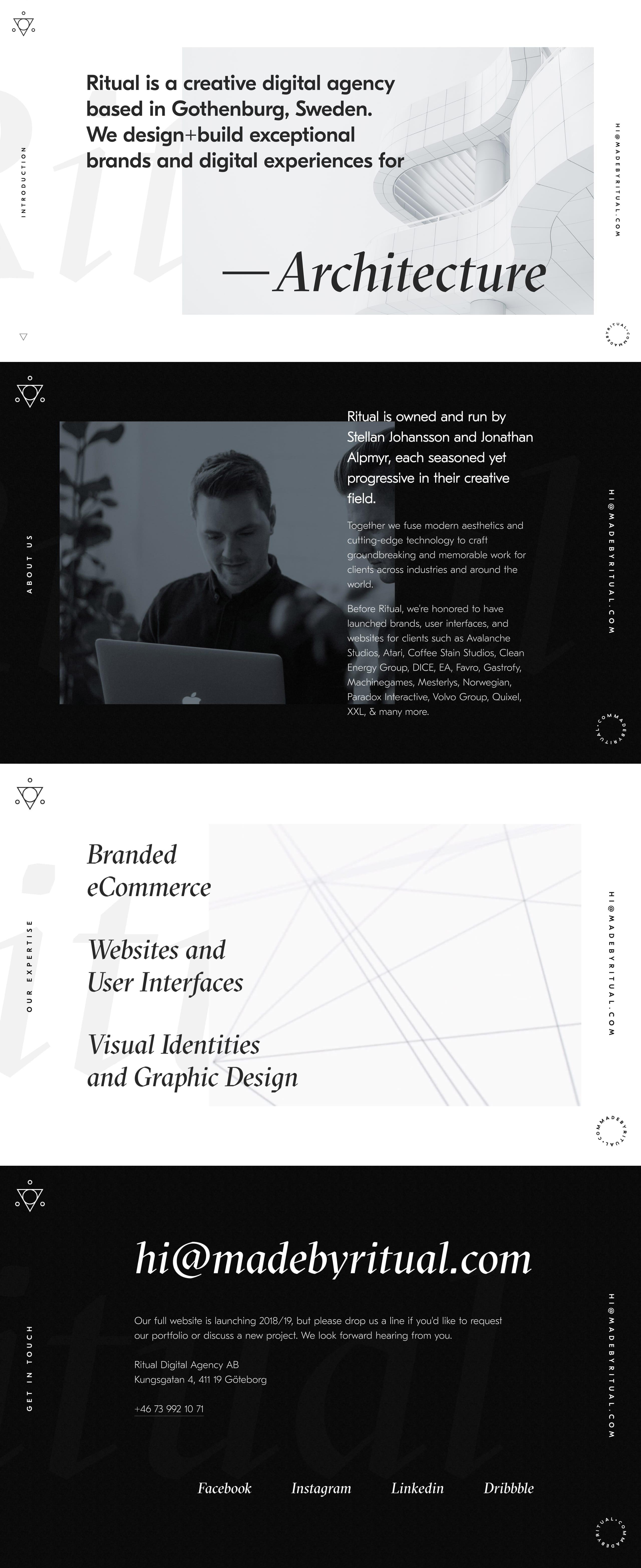 Ritual Website Screenshot