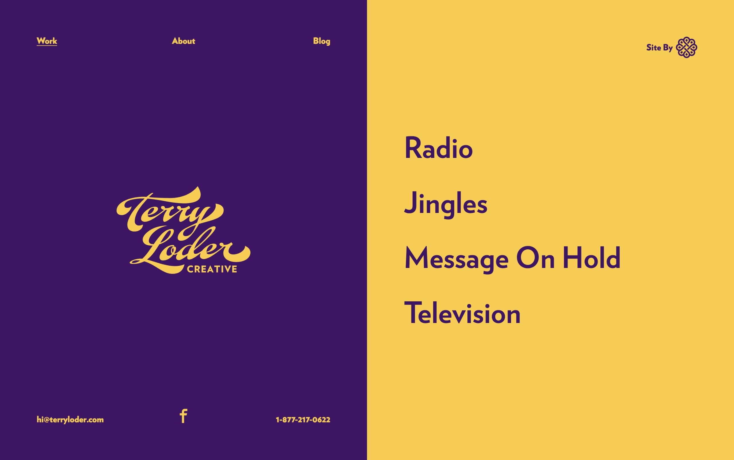 Terry Loder Creative Website Screenshot
