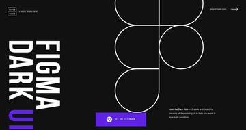 Figma Dark UI Thumbnail Preview