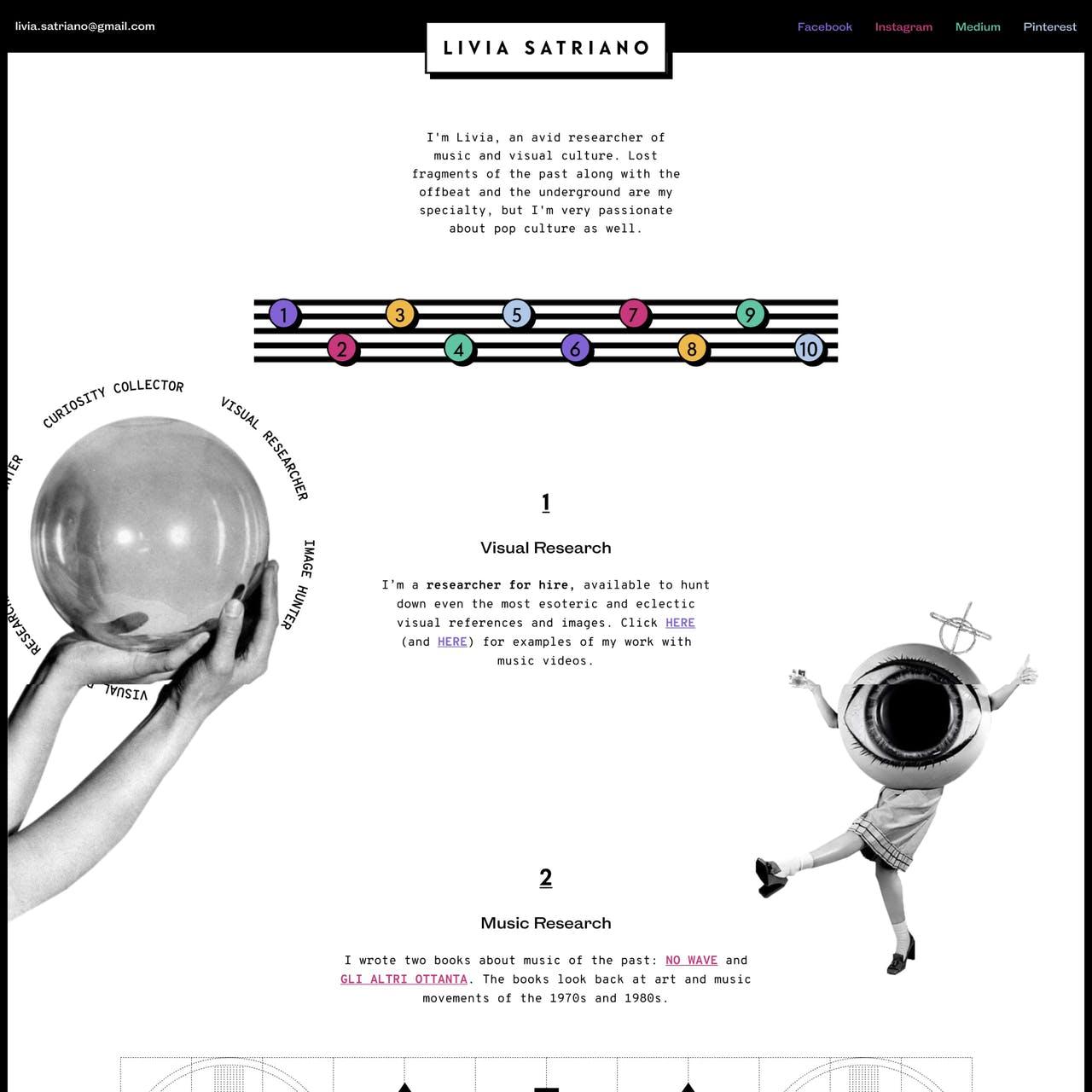 Livia Satriano Website Screenshot
