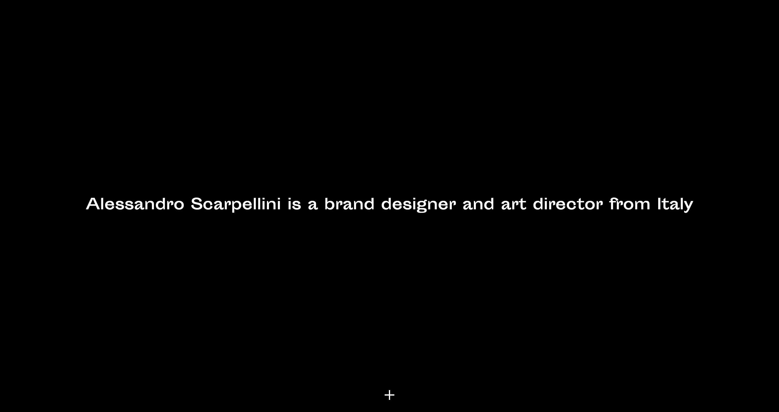 Alessandro Scarpellini Website Screenshot