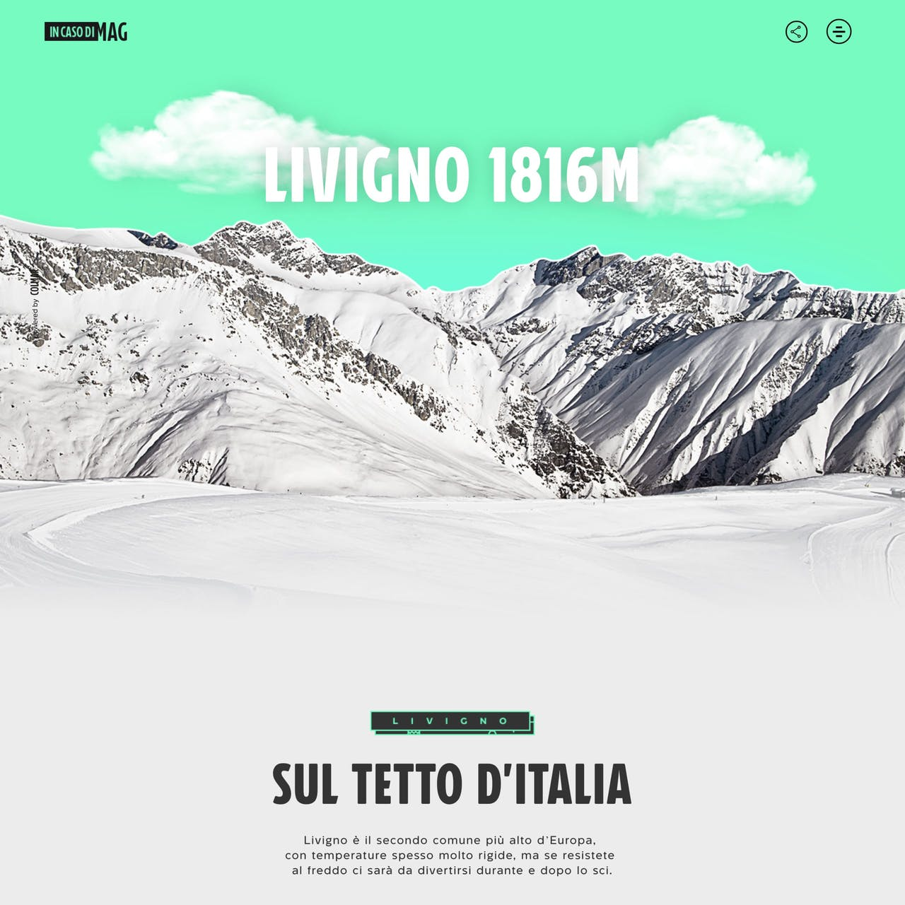 Livigno – In caso di MAG Website Screenshot
