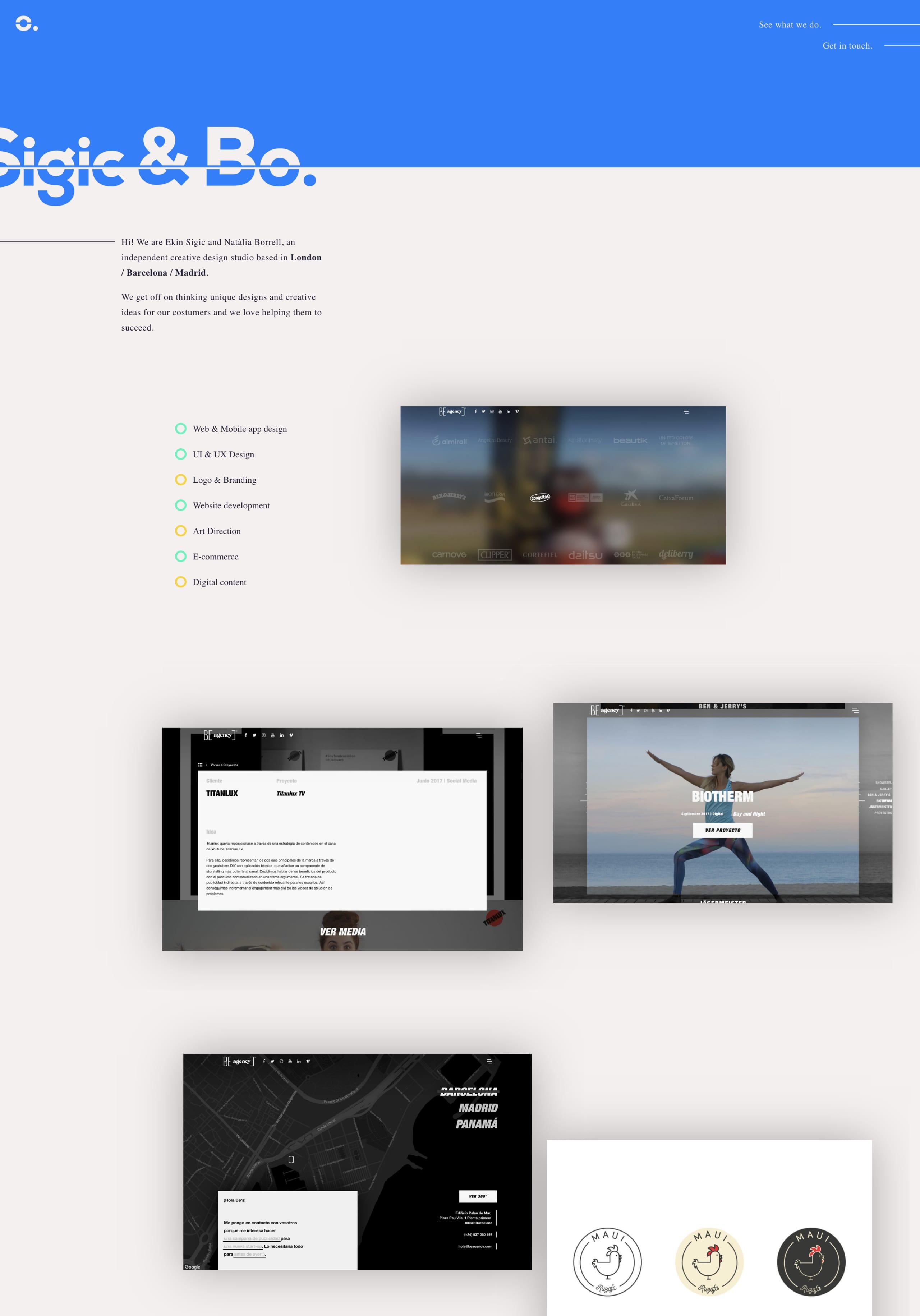 Sigic & Bo. Website Screenshot
