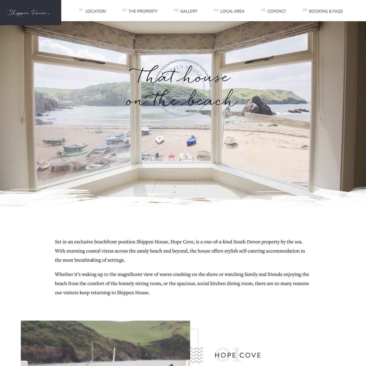 Shippen House Website Screenshot