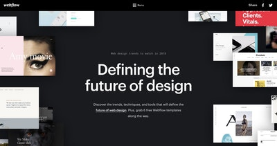 Webflow Design Trends 2018 Thumbnail Preview