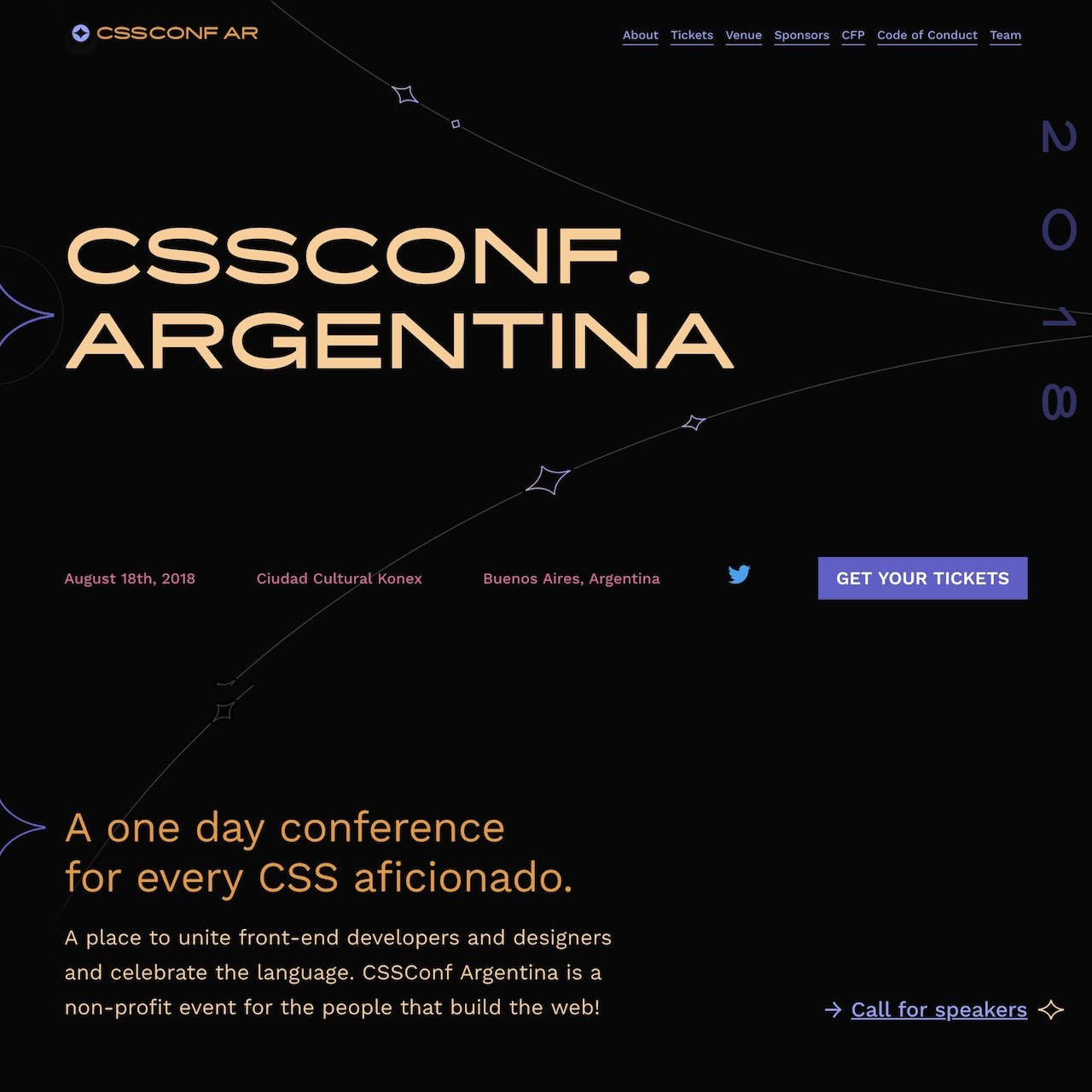 CSSConf Argentina 2018 Website Screenshot