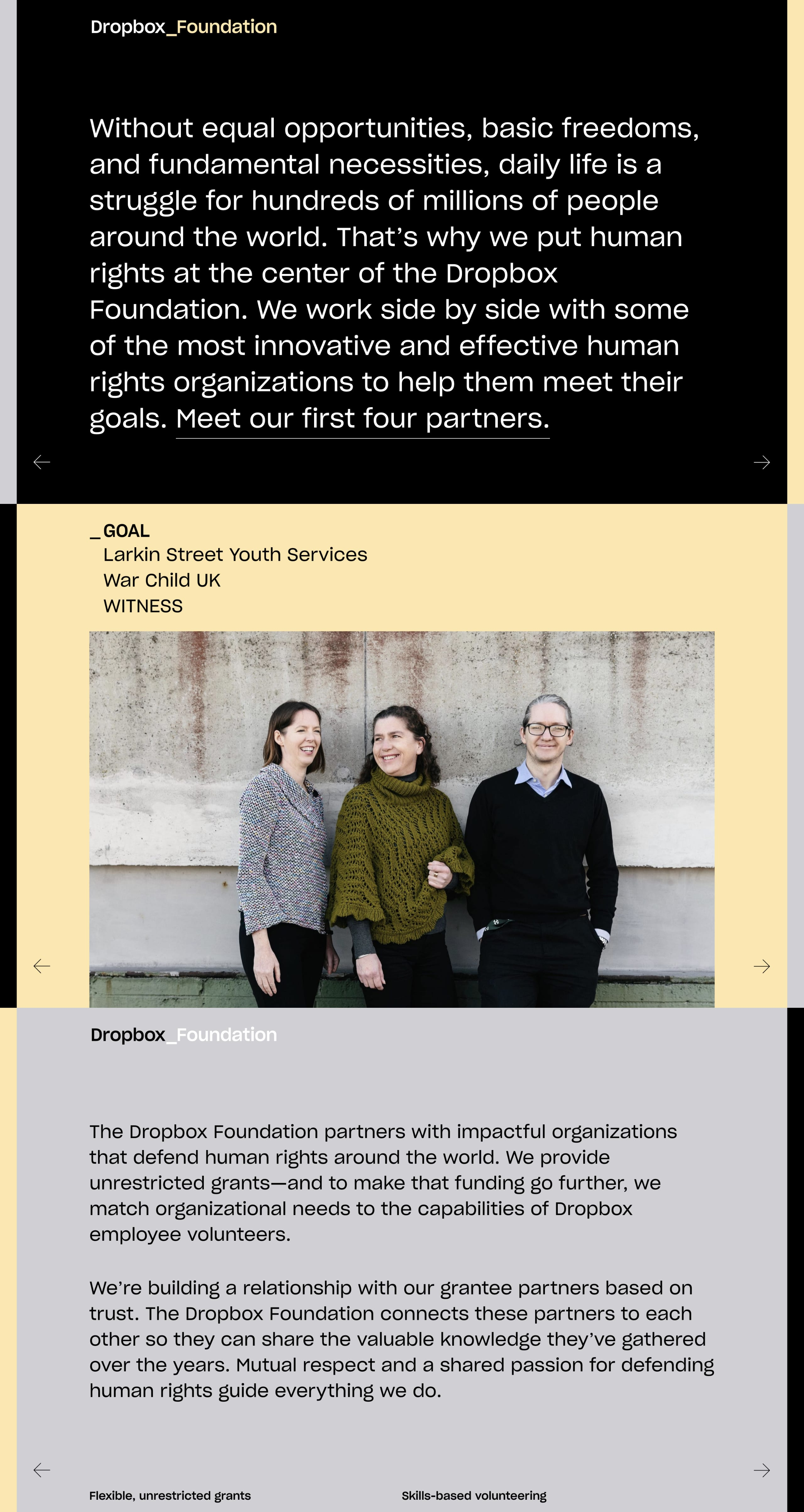 Dropbox Foundation Website Screenshot