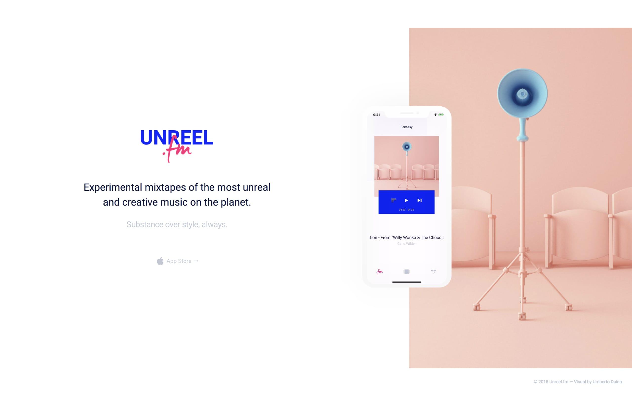 Unreel.fm Website Screenshot