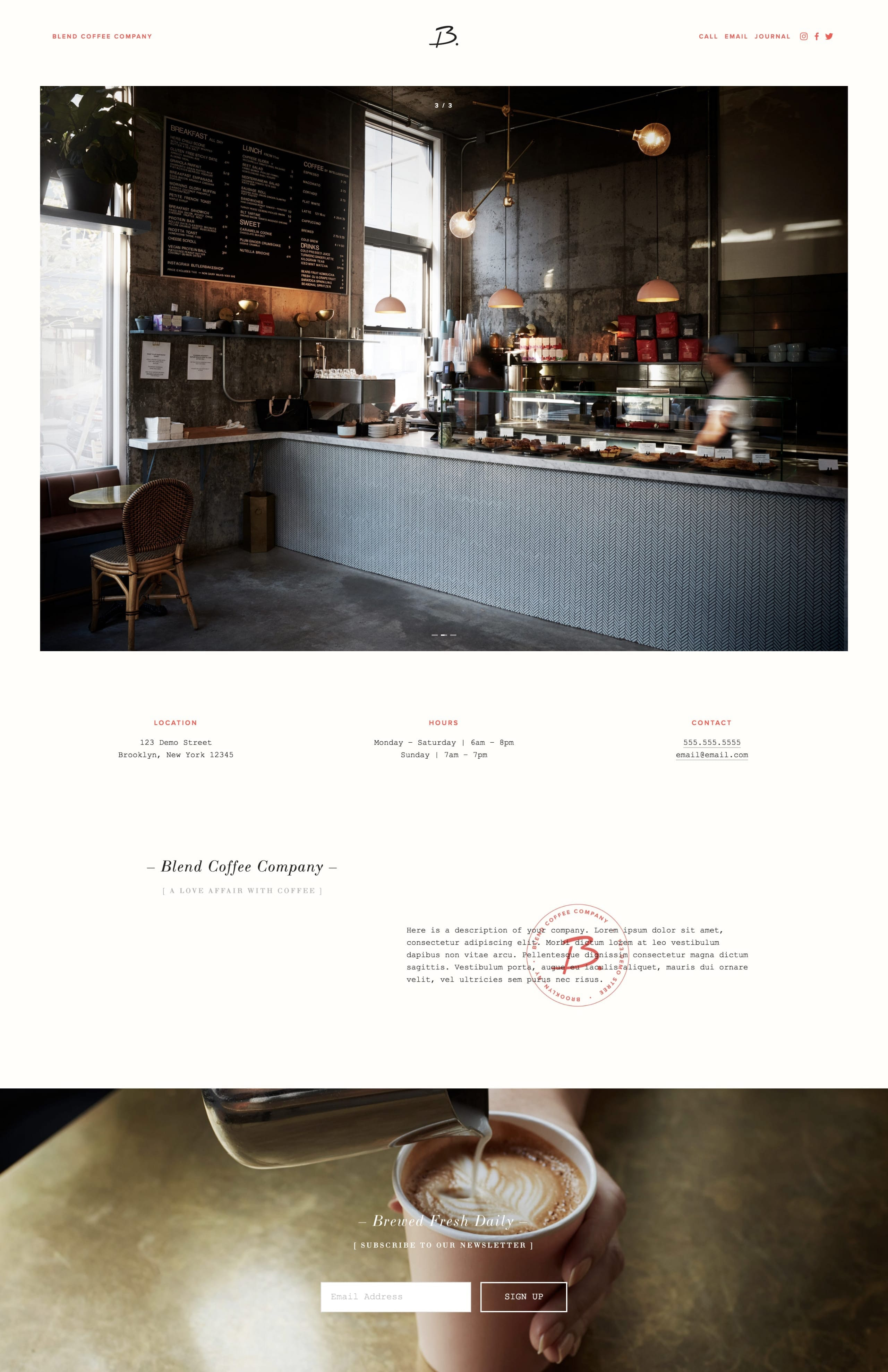 Squarespace Template | 5 New One Page Templates From Squarespace