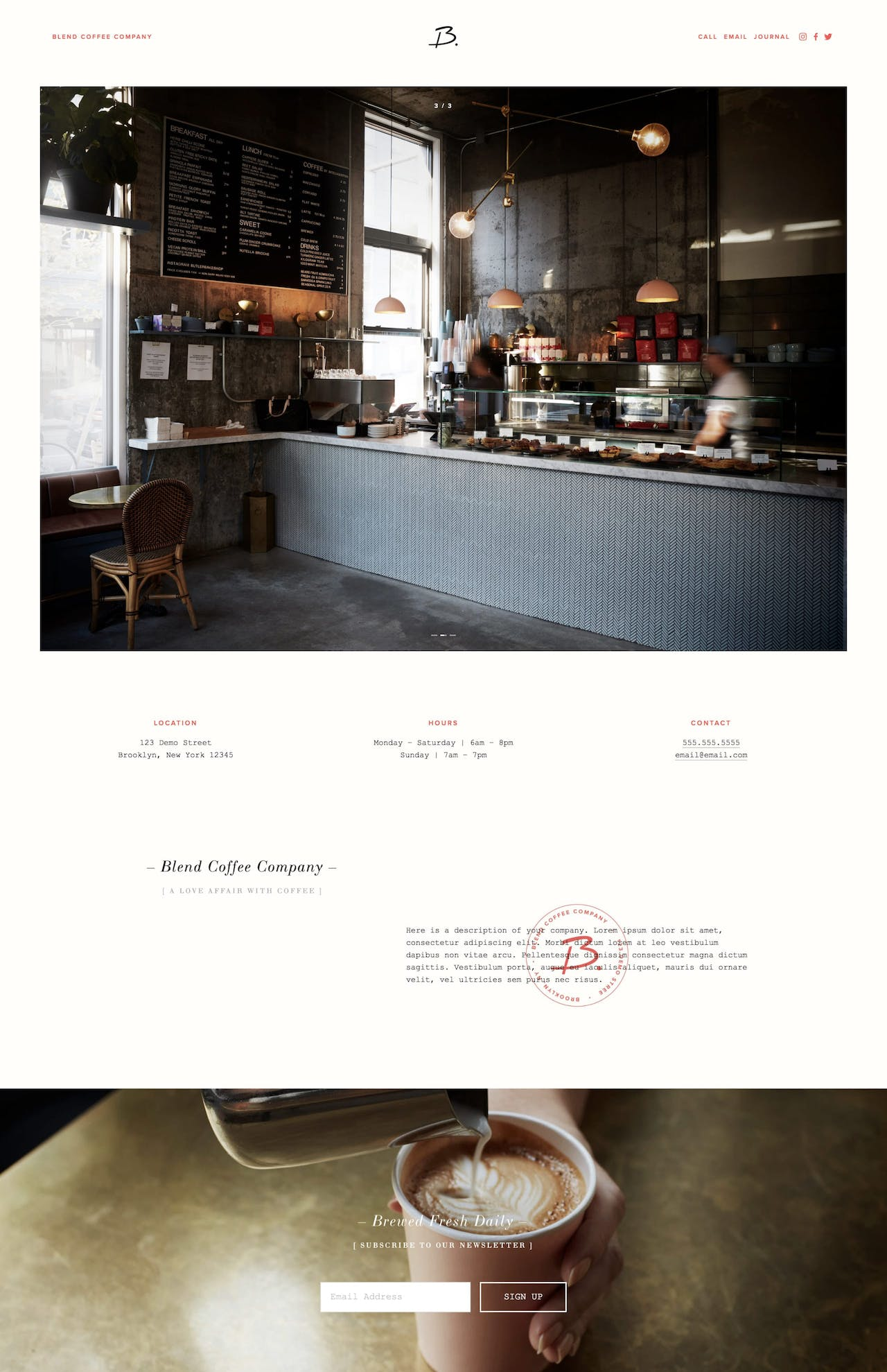 Blend Squarespace Template Screenshot
