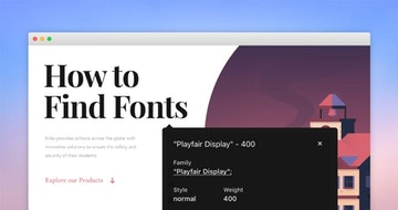 How to ID Fonts in a One Pager 🔎