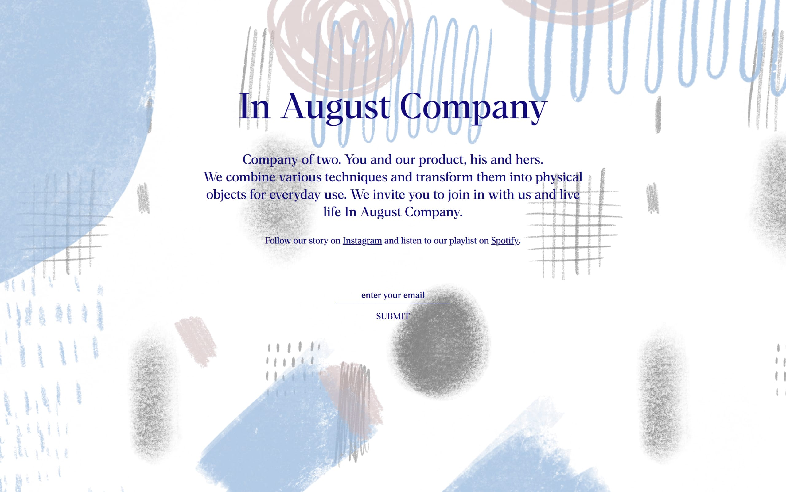 In August Company Website Screenshot