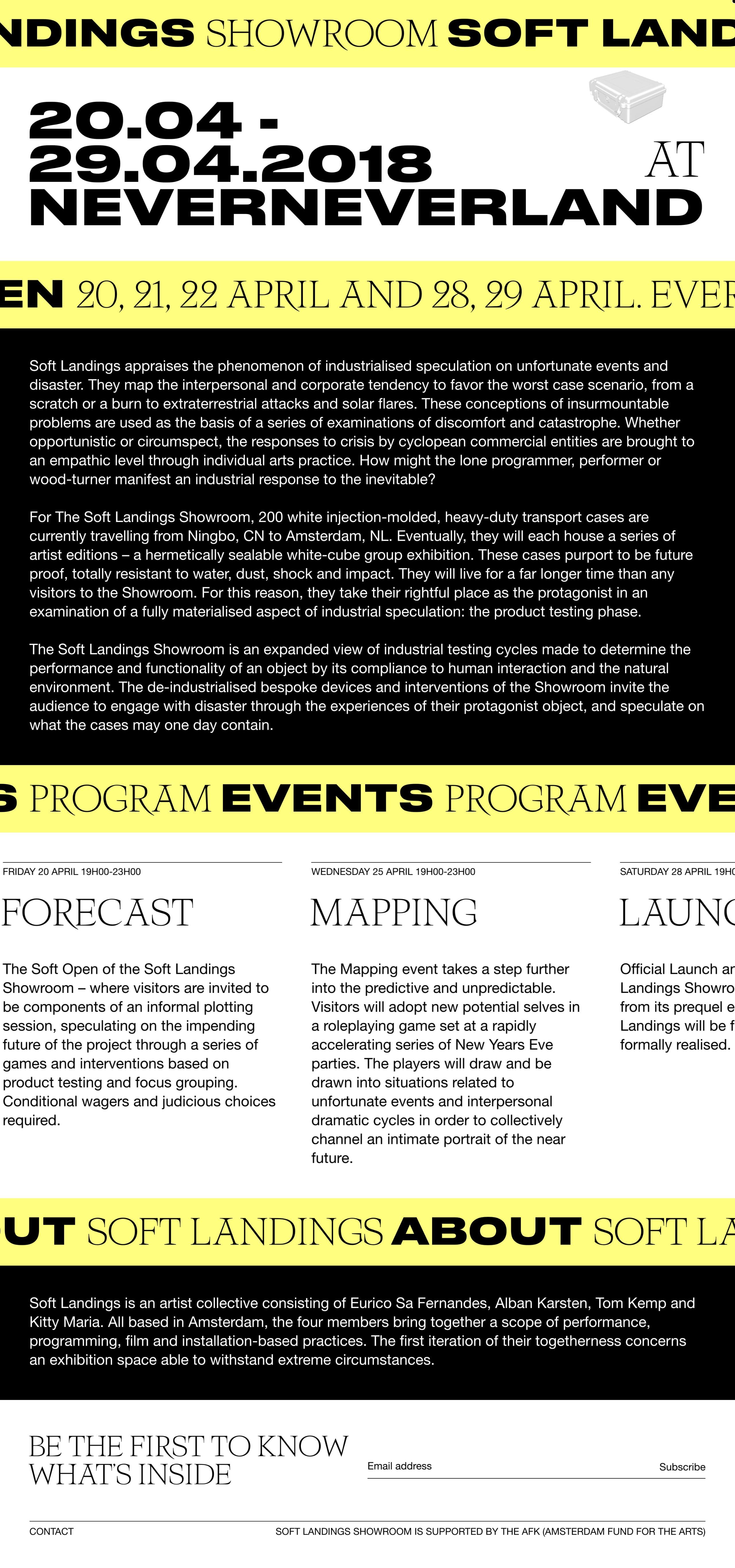 Soft Landings Website Screenshot