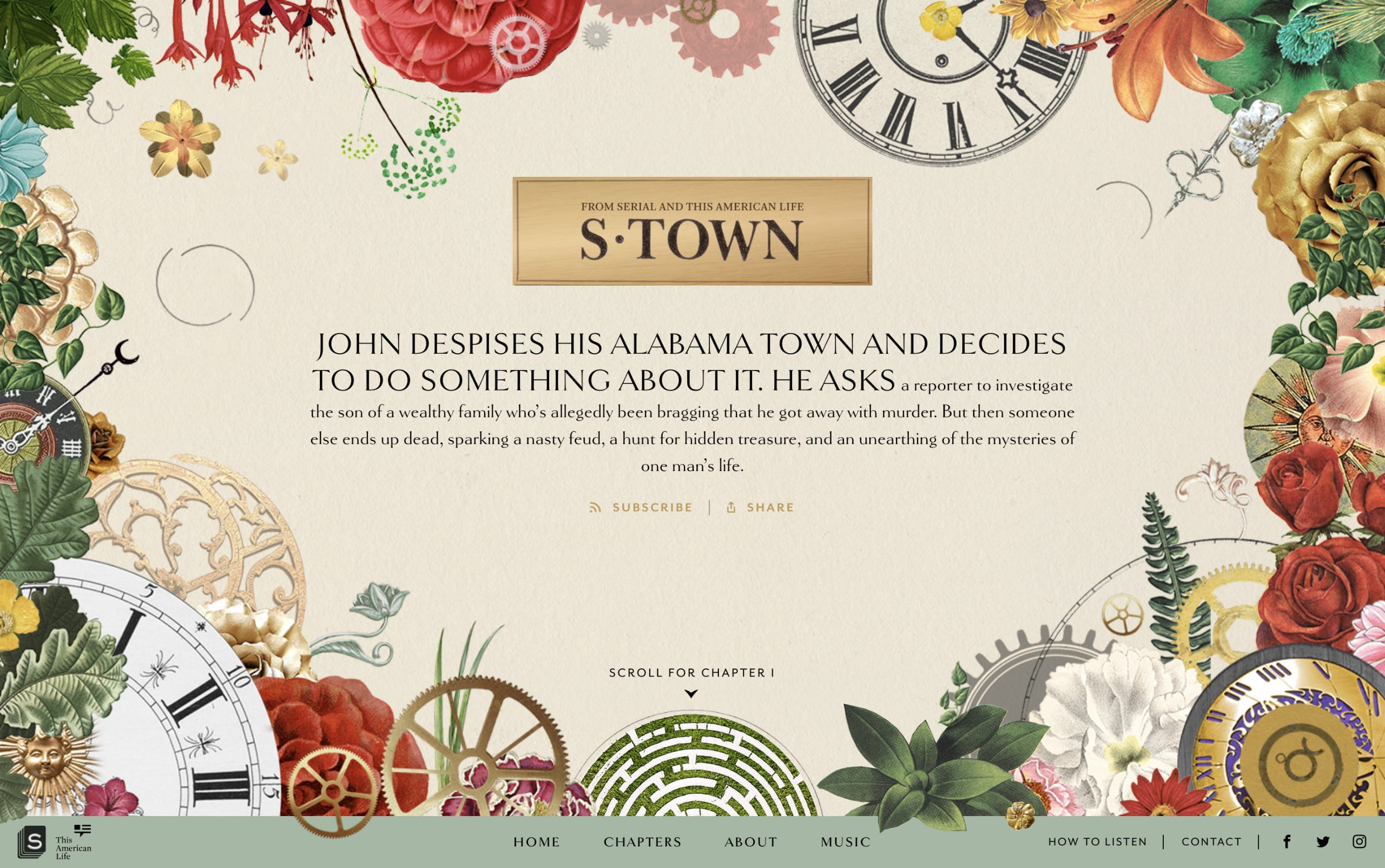 S-Town Podcast Website Screenshot