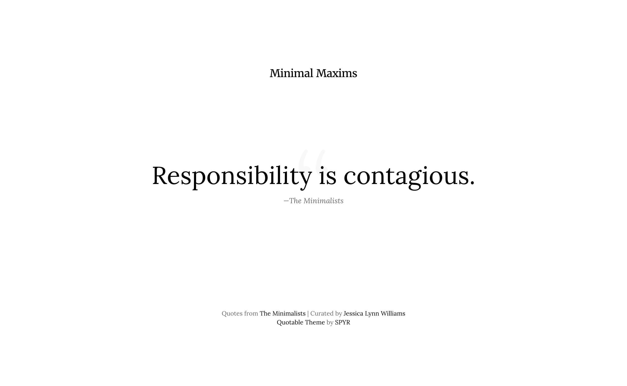 Minimal Maxims Website Screenshot
