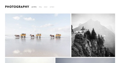 Showcase your best photography with a Squarespace portfolio