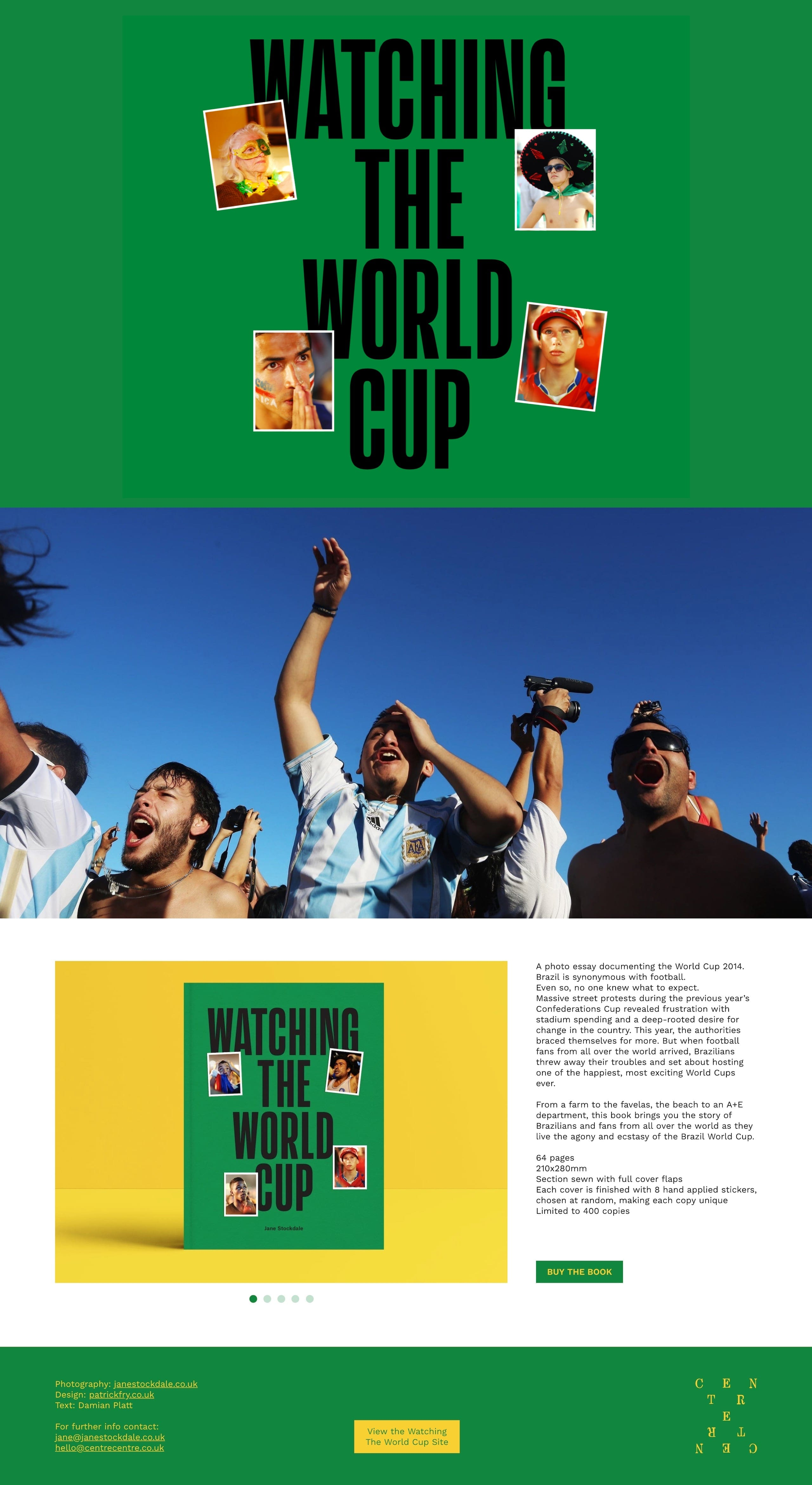 Watching The World Cup Book Website Screenshot