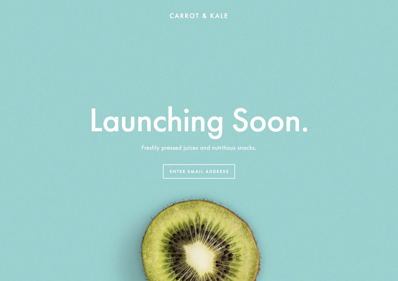 A preview of our beautiful Launching Soon website using a Squarespace Cover Page Screenshot
