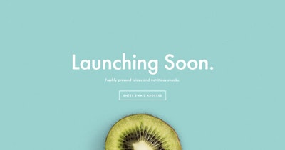 "Gather emails before your launch using a Squarespace ""Launching Soon"" template"