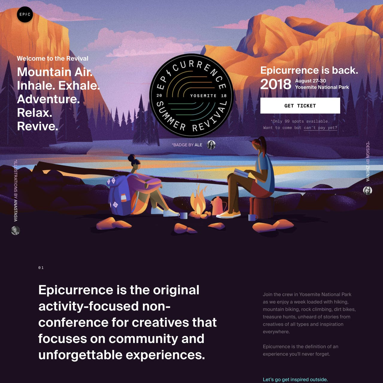 Epicurrence No.7 Website Screenshot