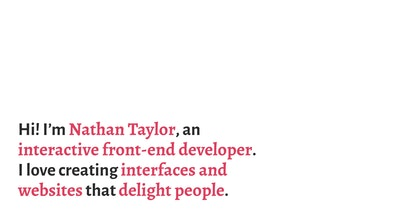 Nathan Taylor Thumbnail Preview