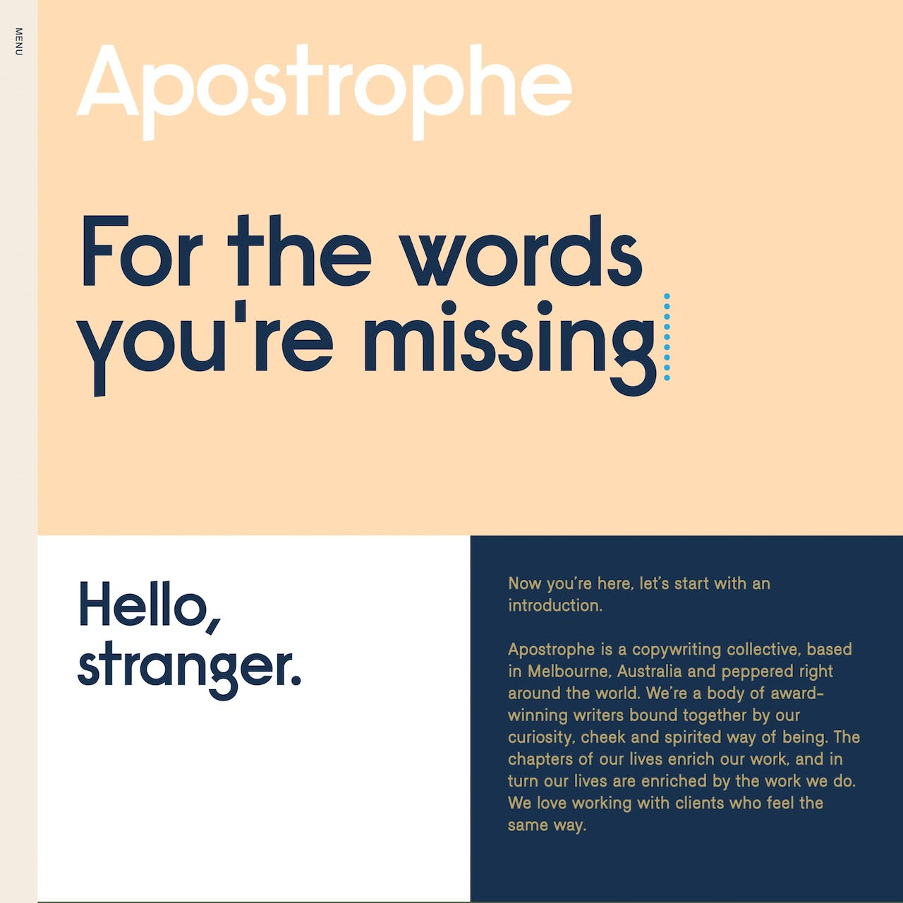 Apostrophe Copywriters Website Screenshot