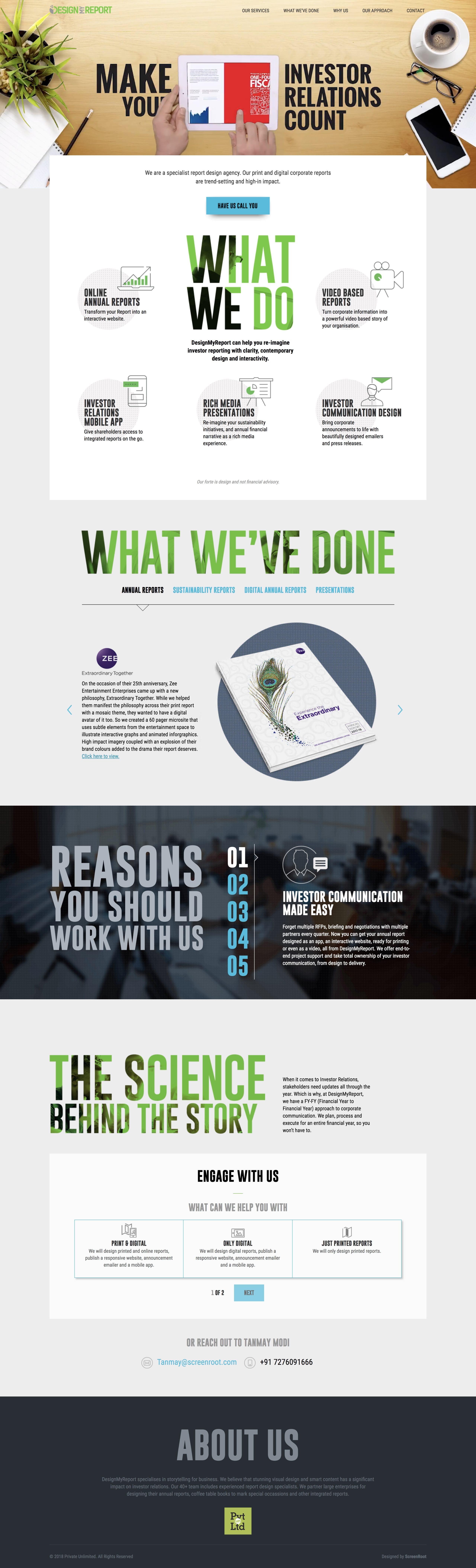 Design My Report Website Screenshot