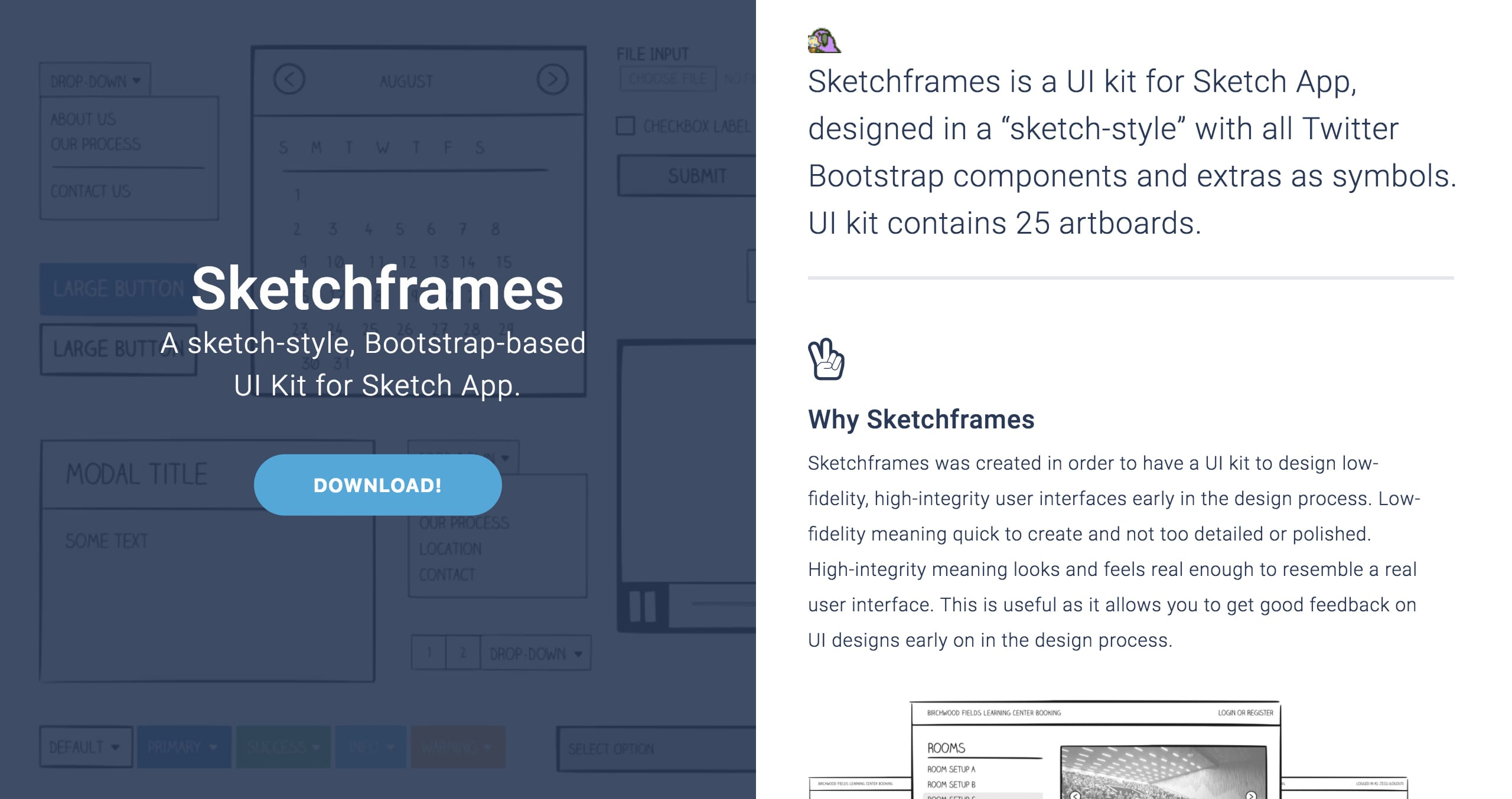 Sketchframes Website Screenshot