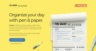 My Daily Planner Thumbnail Preview