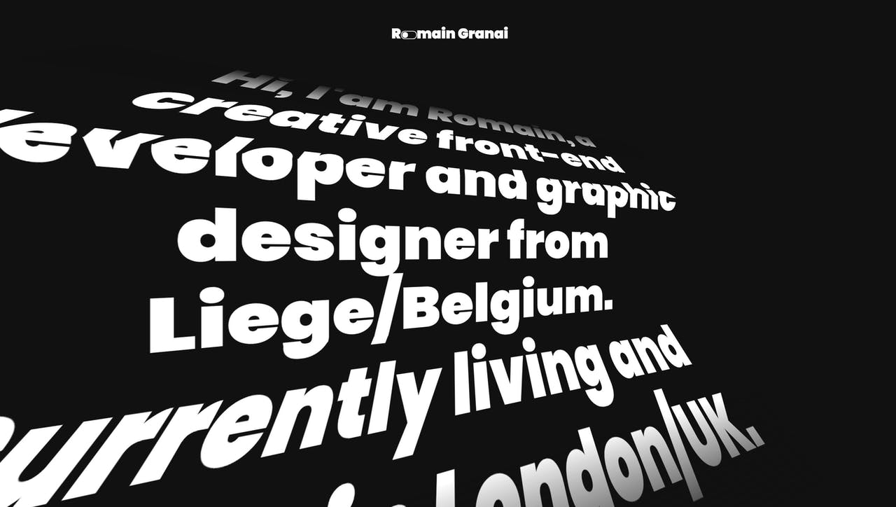 Romain Granai Website Screenshot
