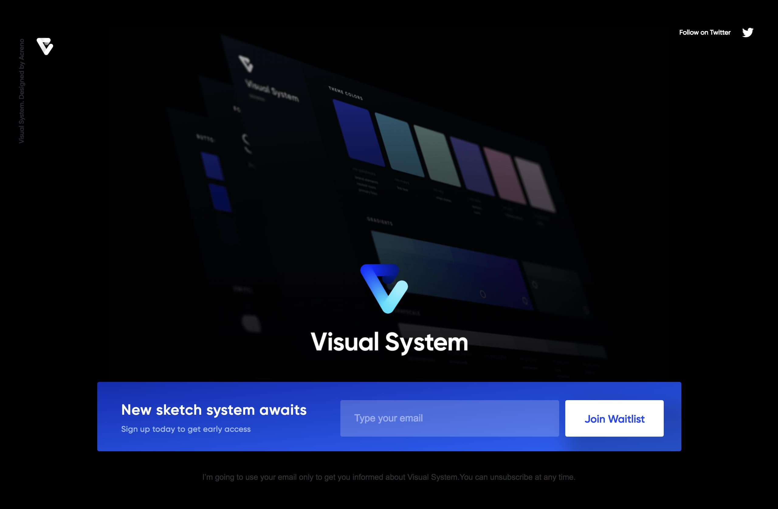 Visual System Website Screenshot