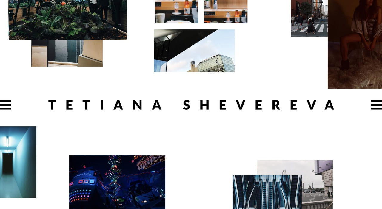Tetiana Shevereva Website Screenshot