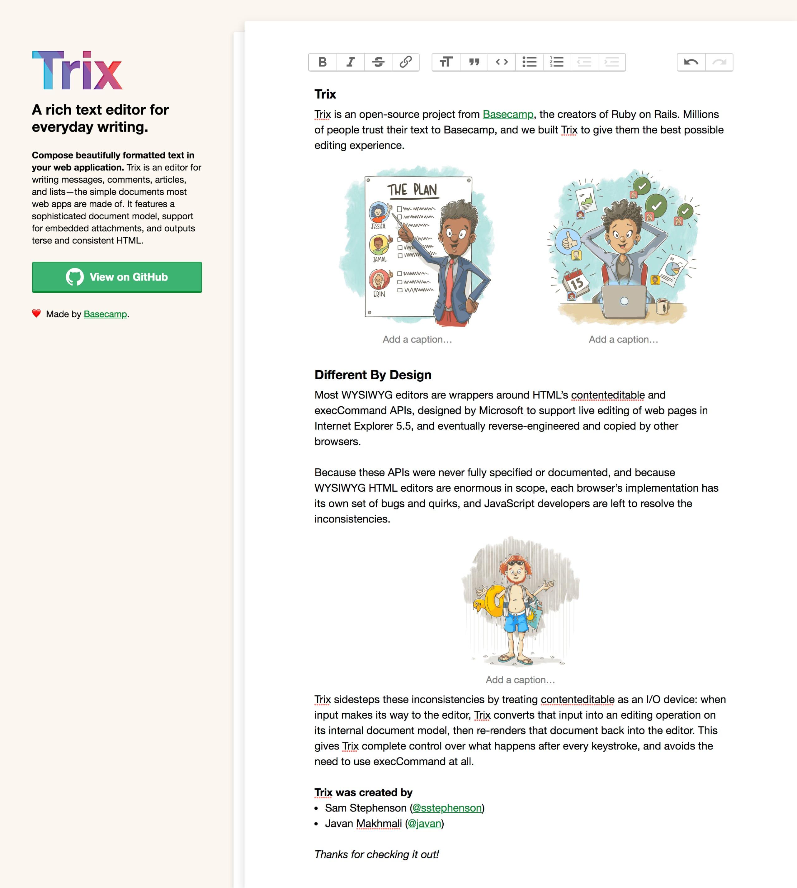 Trix Website Screenshot