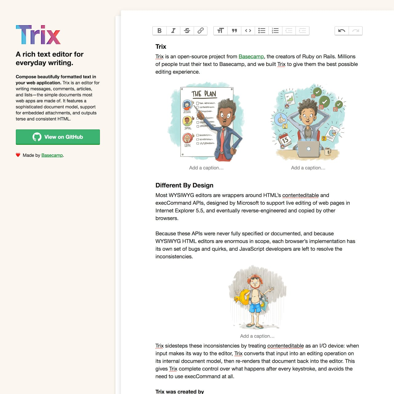 Trix Website Screenshot