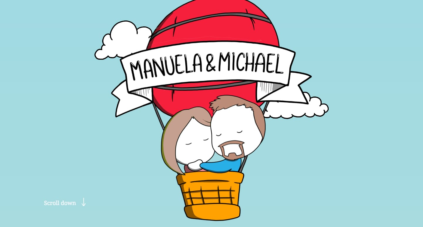 3 years Manuela & Michael Website Screenshot