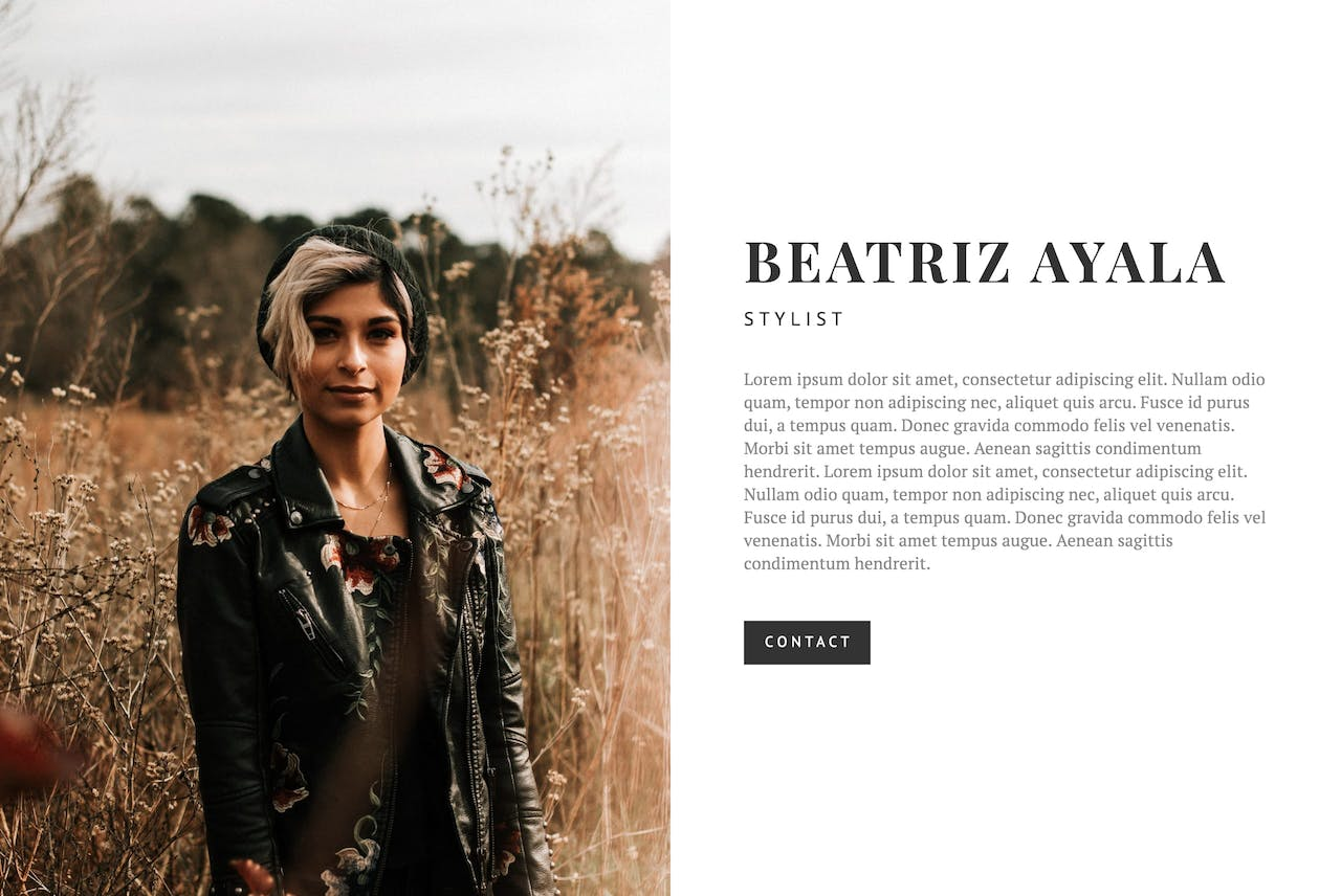 Squarespace Cover Page Screenshot