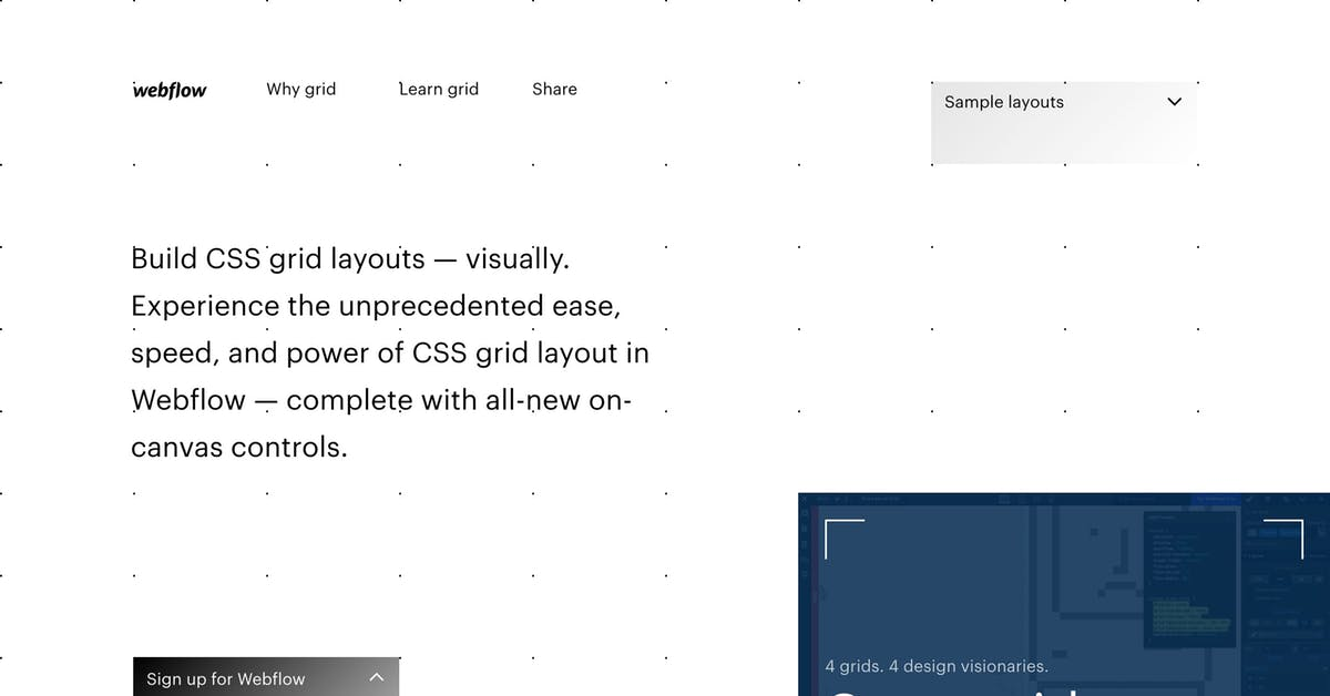 Build CSS Grid Layouts Visually – Webflow - Most Loved Website Award