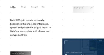 Build CSS Grid Layouts Visually – Webflow Thumbnail Preview