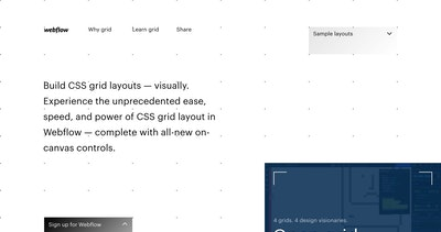 Build CSS Grid Layouts Visually – Webflow Thumbnail Preview