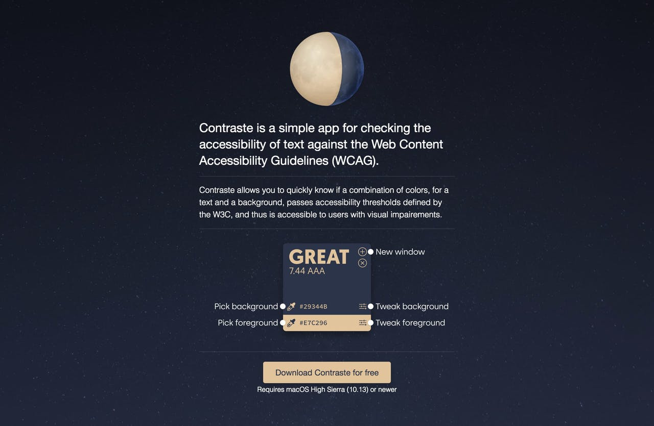 Contraste Website Screenshot