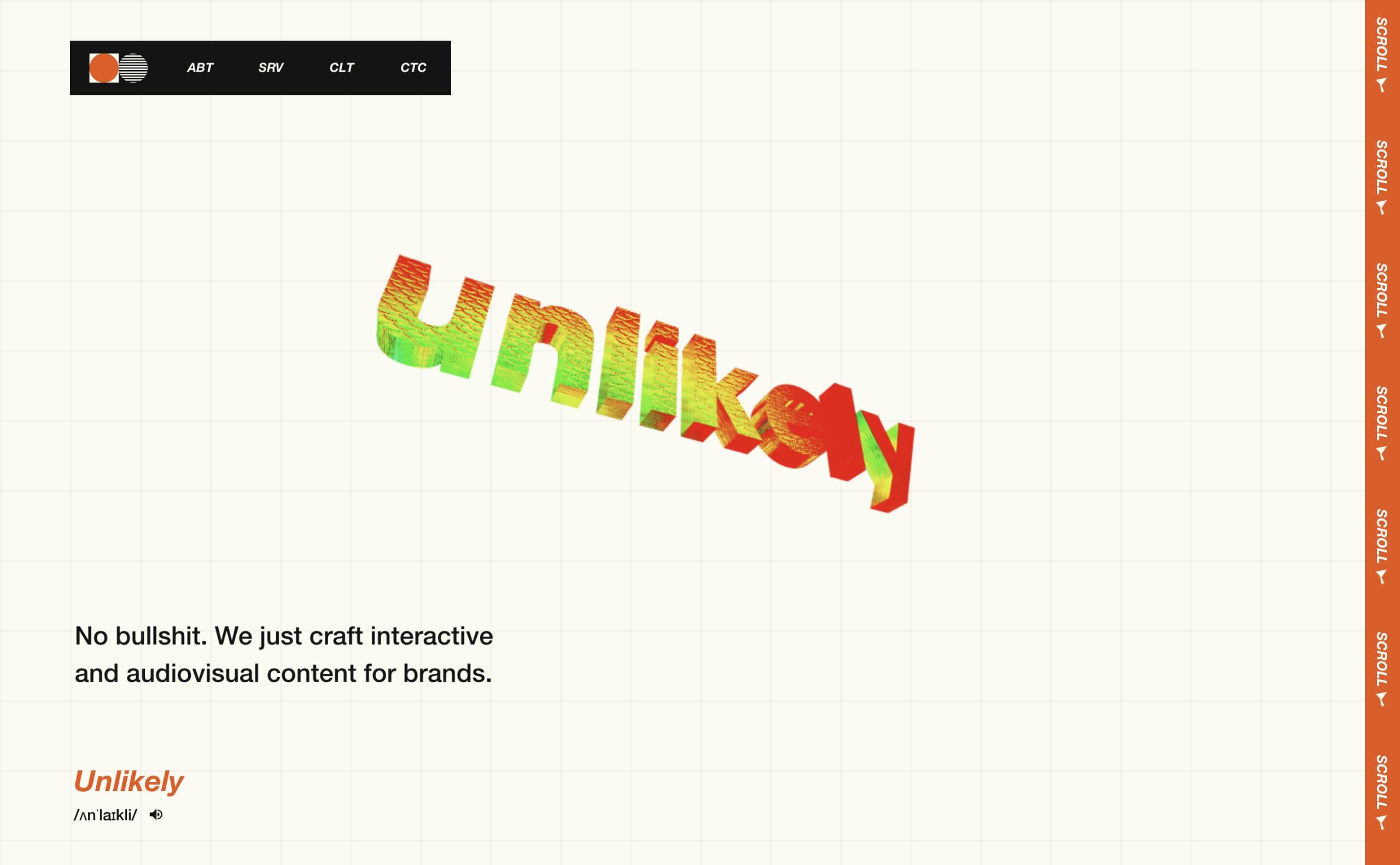 Unlikely Website Screenshot