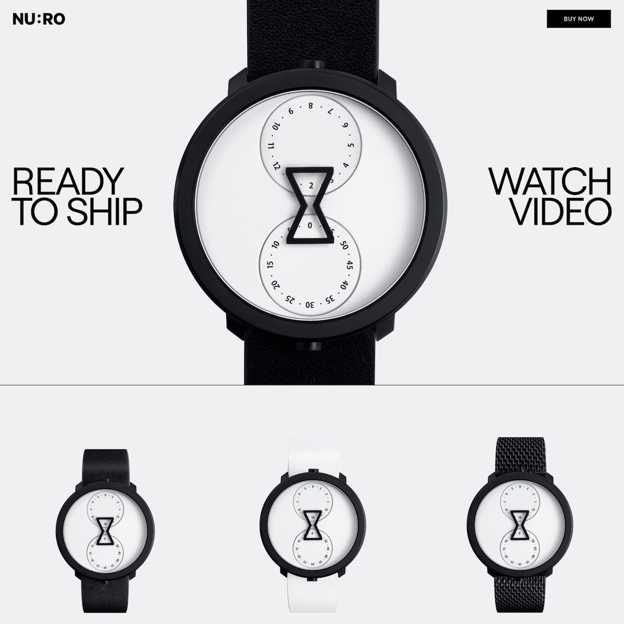 NU:RO Watch Website Screenshot