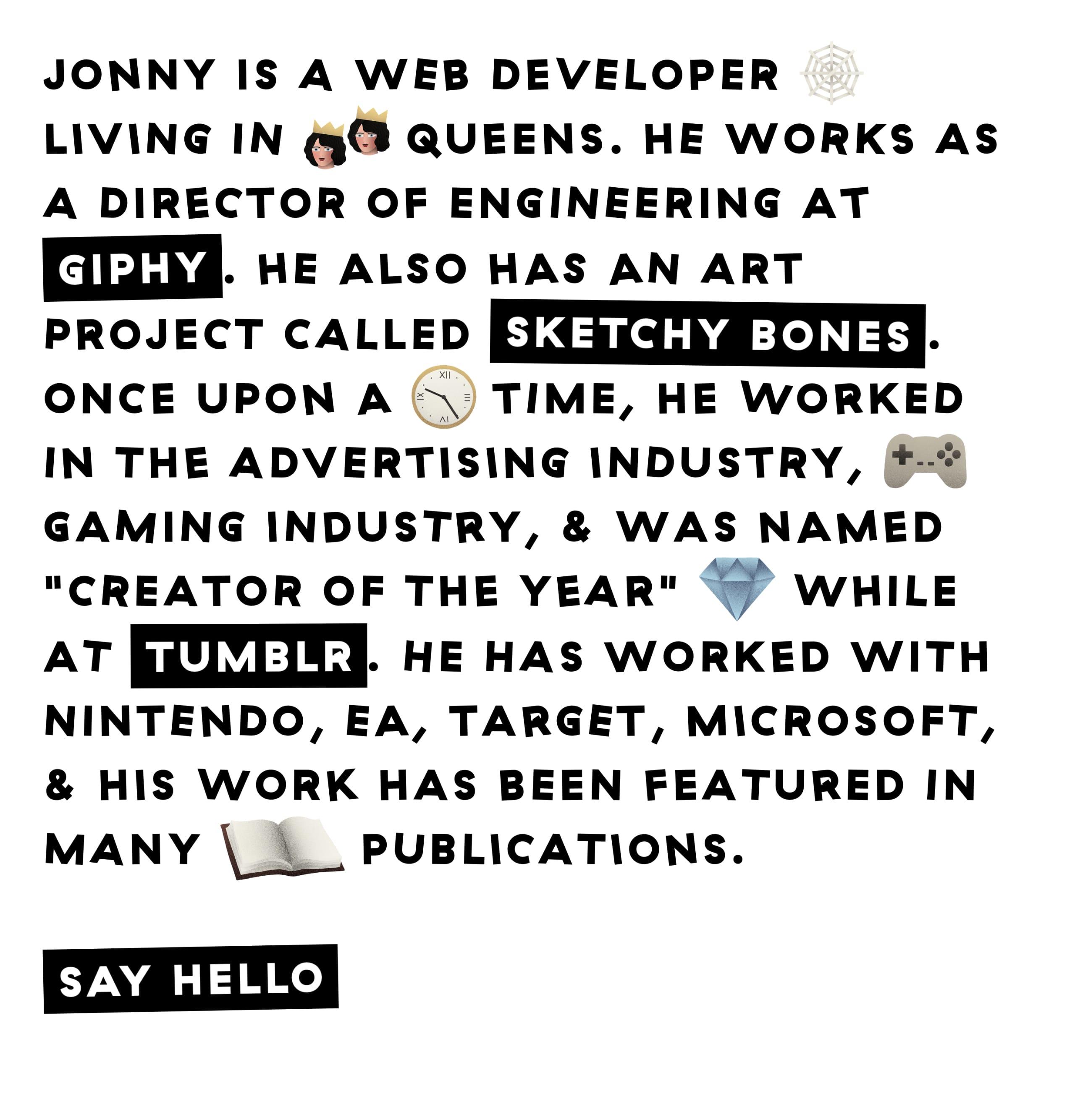 Jonny McLaughlin Website Screenshot
