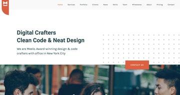 Meelo - One Page WordPress Theme