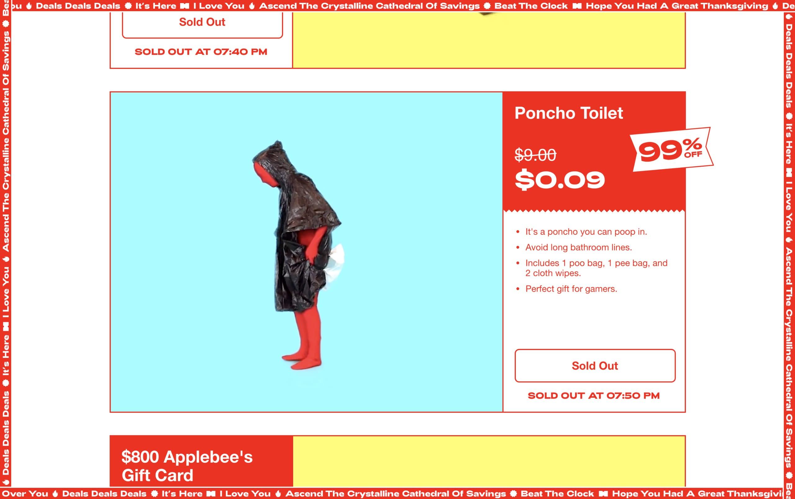 The 99% Sale Website Screenshot