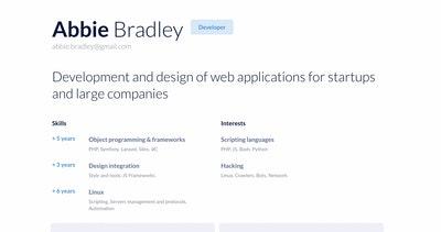 one page résumé templates