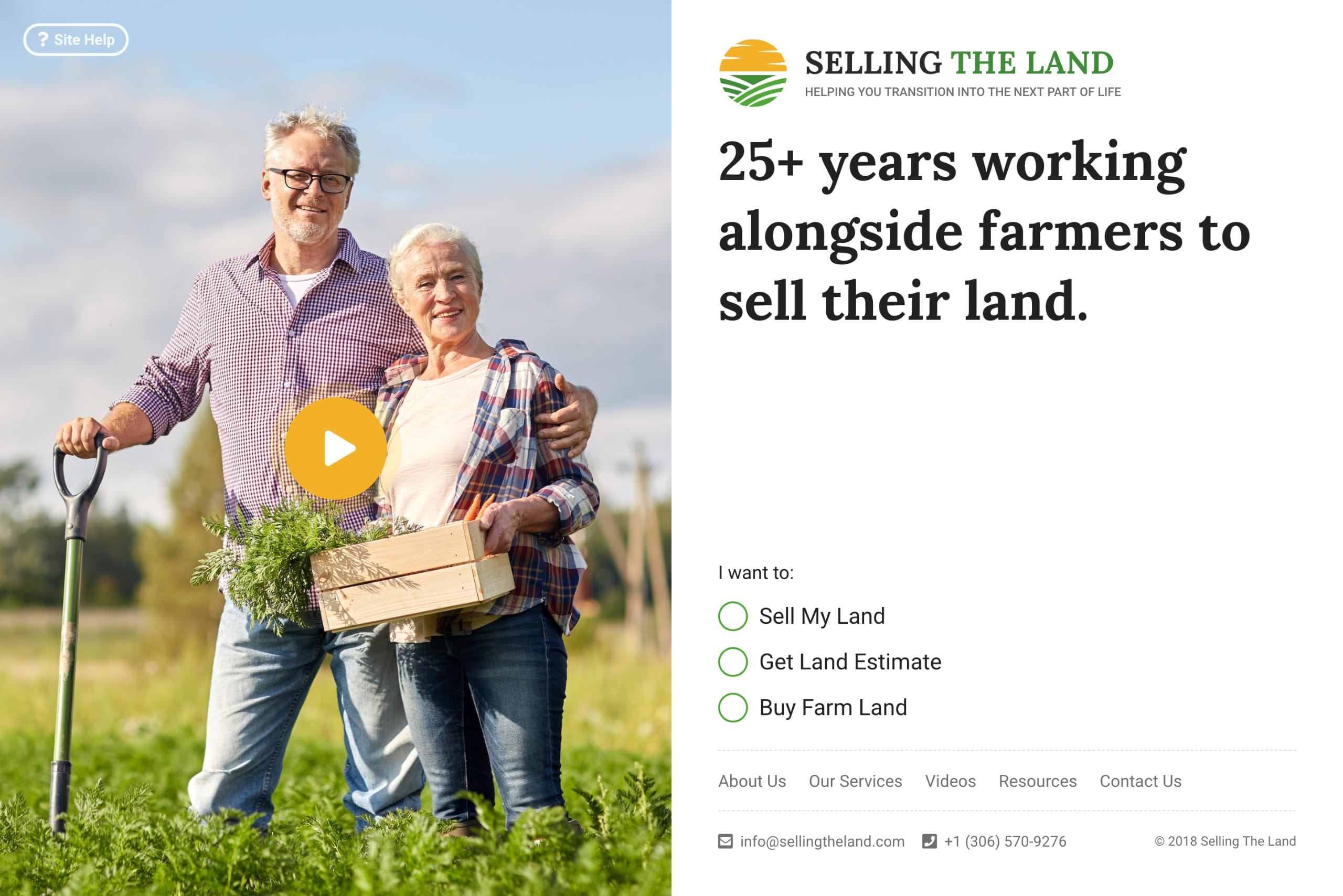 Selling The Land Website Screenshot