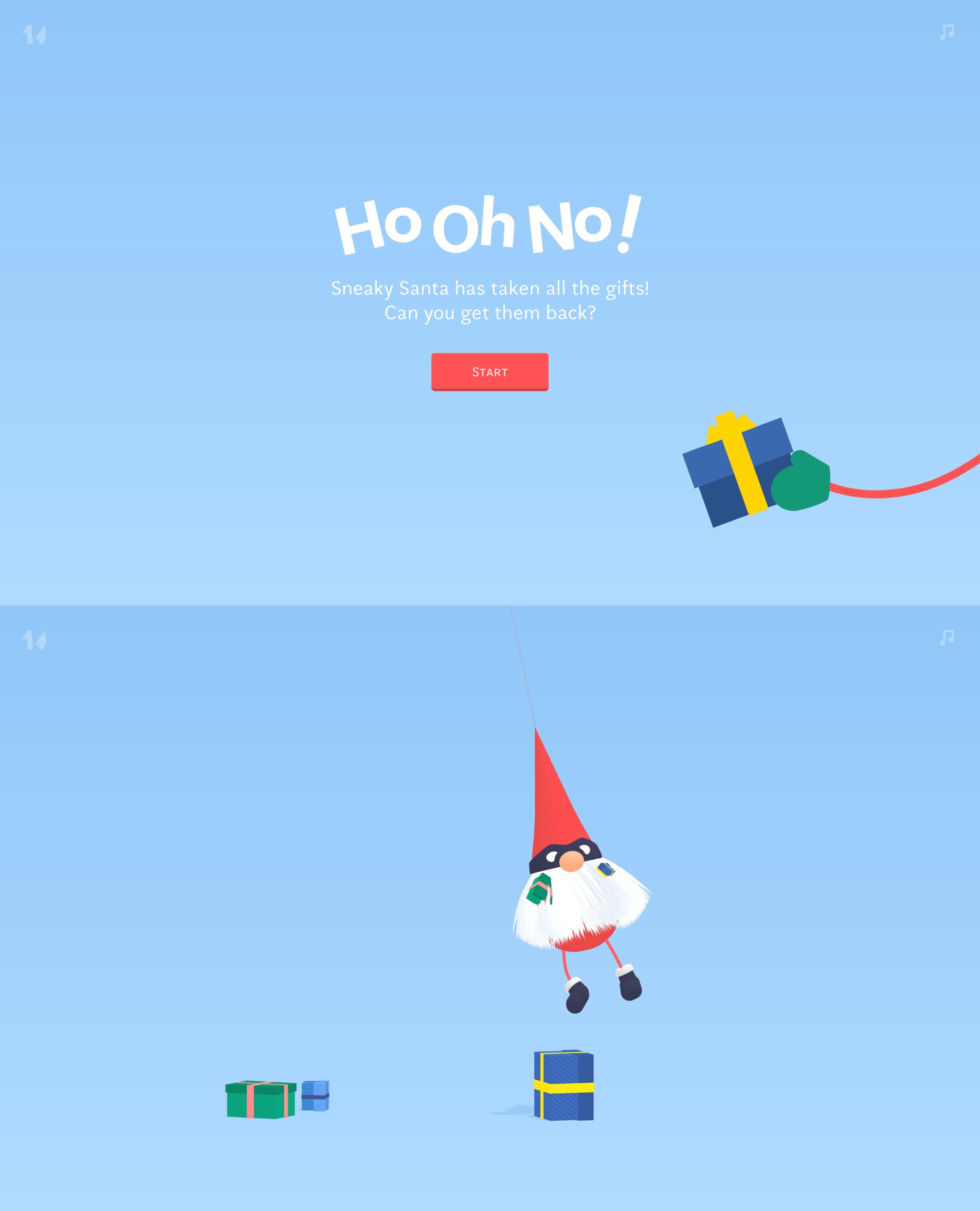 Sneaky Santa Website Screenshot