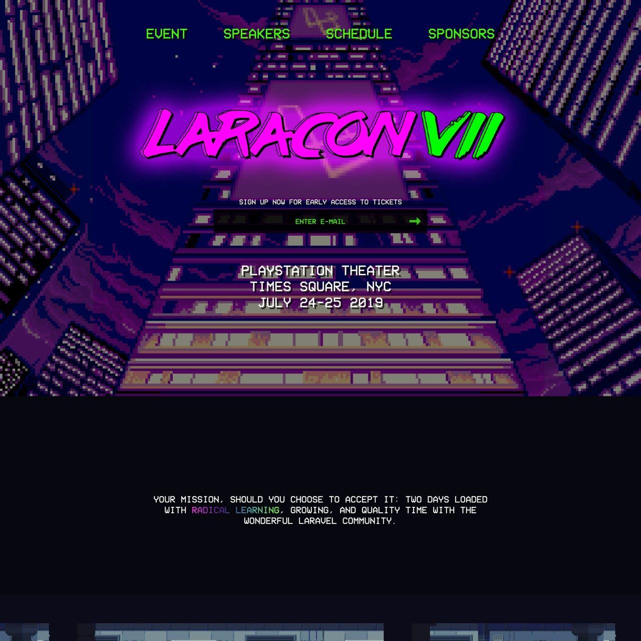 Laracon VII Website Screenshot