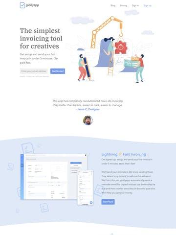 Avenir Next Font One Page Websites